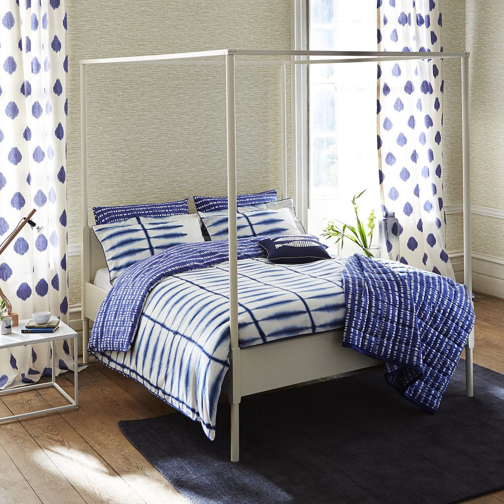 Fresh design indigo blue Shibori bedding