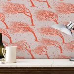 Northeasterly British tree design wallpaper by Bold and Noble