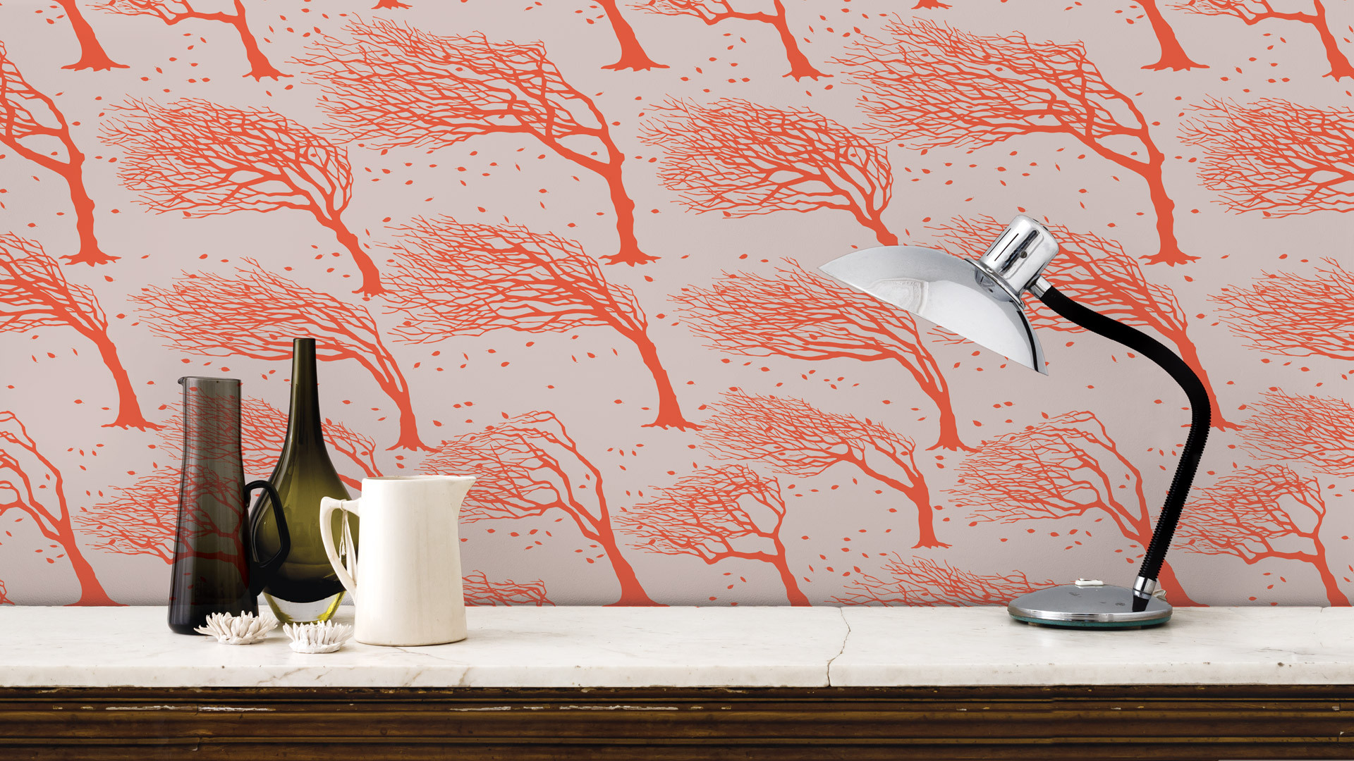 Northeasterly british tree design wallpaper by bold and for Bold wallpaper