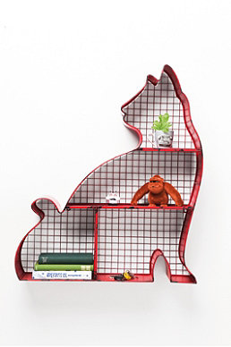 Wire cat design shelf