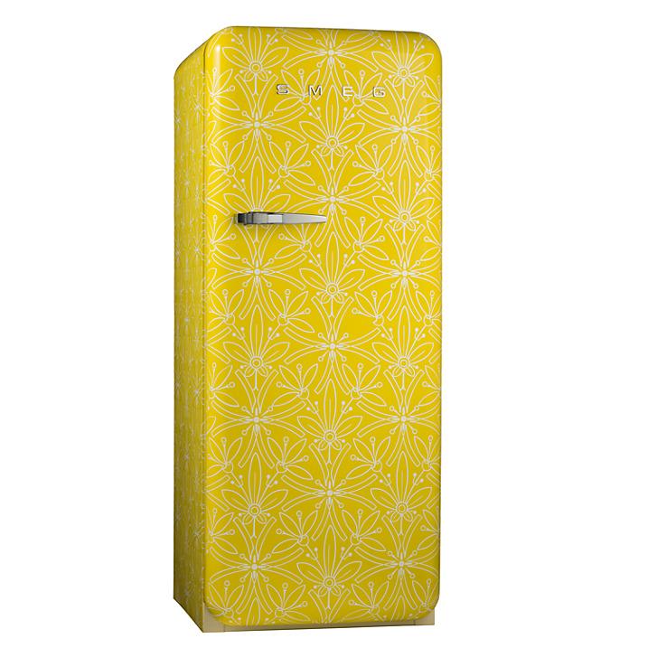 Funky patterned special edition Smeg fridge freezer