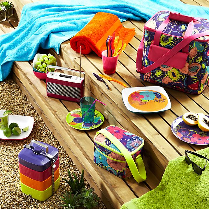 Bold and colour picnic essentials