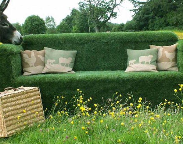Go green with a grass garden sofa
