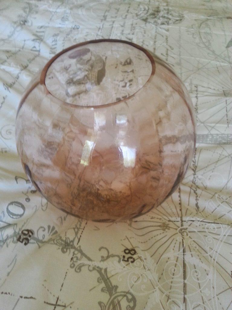 Tesco crackle glass vase on script duvet