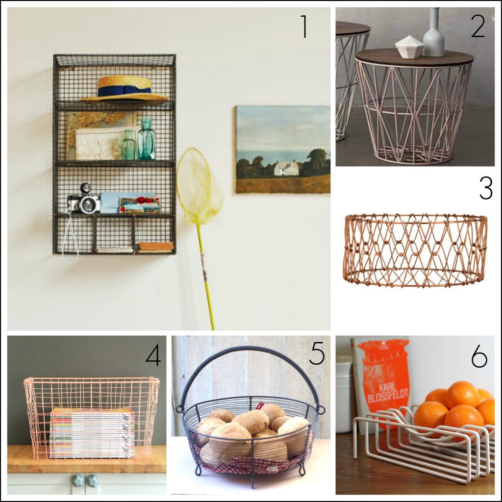Fresh contemporary design wire home accessories and furniture