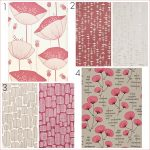 Fresh Design wallpaper: 4 coral pink and neutral designs by MissPrint
