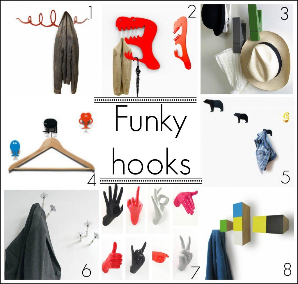 Funky coat hook ideas from Fresh Design Blog