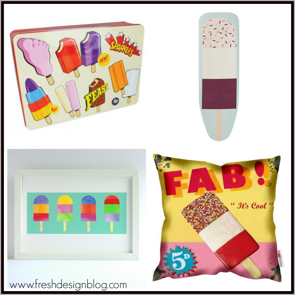 Home accessories inspired by ice lolly designs
