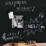 Fresh Design ideas: Magnetic blackboard wallpaper