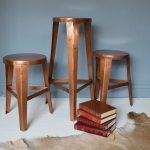 Metallic accents: Danish copper stools