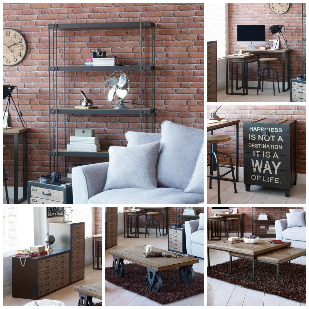 Contemporary rustic industrial furniture