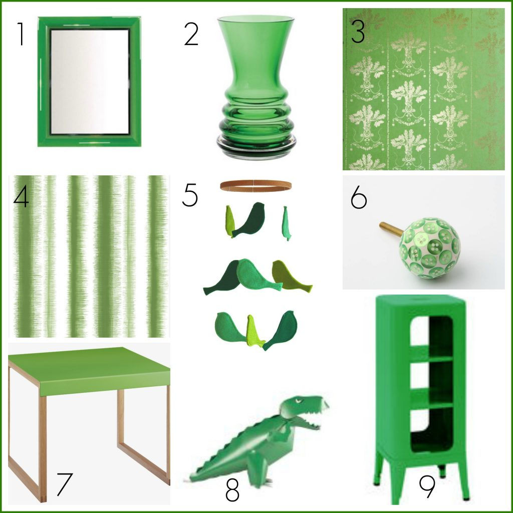 Decorate your home in fresh greens