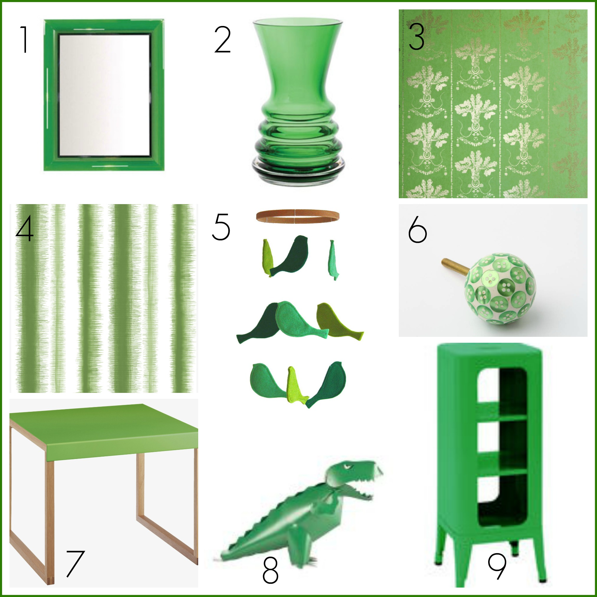 Fresh design colour green home decor and product ideas for Green decorations for home
