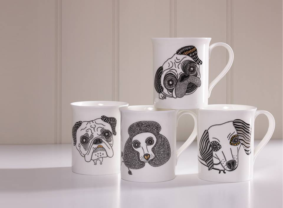 Designer dog mugs by Alpenfraulein reviewed by Fresh Design Blog