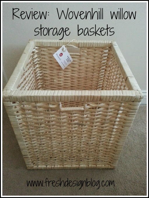 Fresh Design Blog reviews Wovenhill willow storage baskets