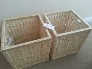 Pair of willow storage baskets from Wovenhill