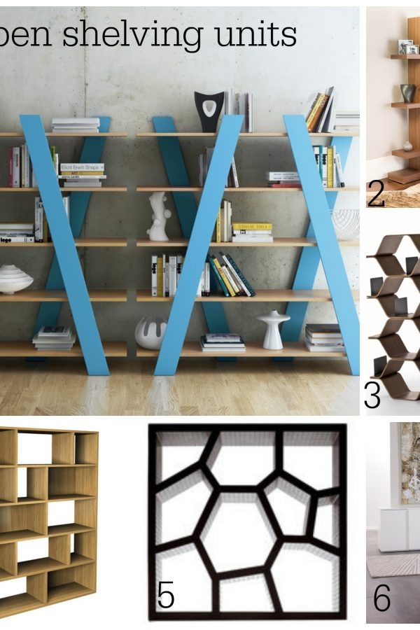 Six ways to use contemporary open shelving units