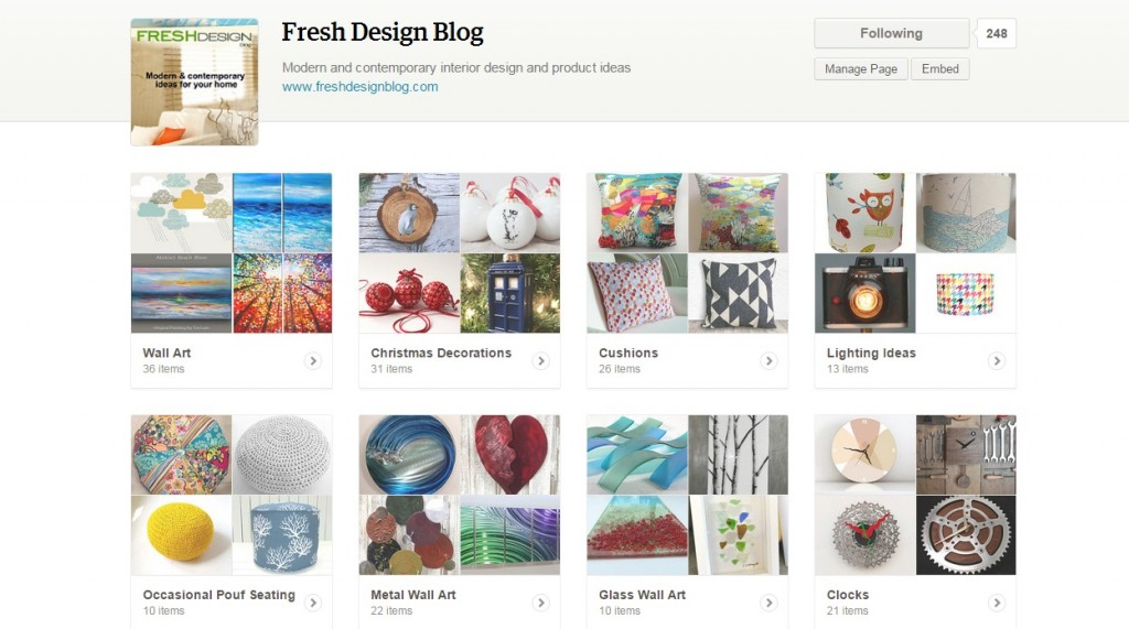 Fresh Design blog featured page on Etsy