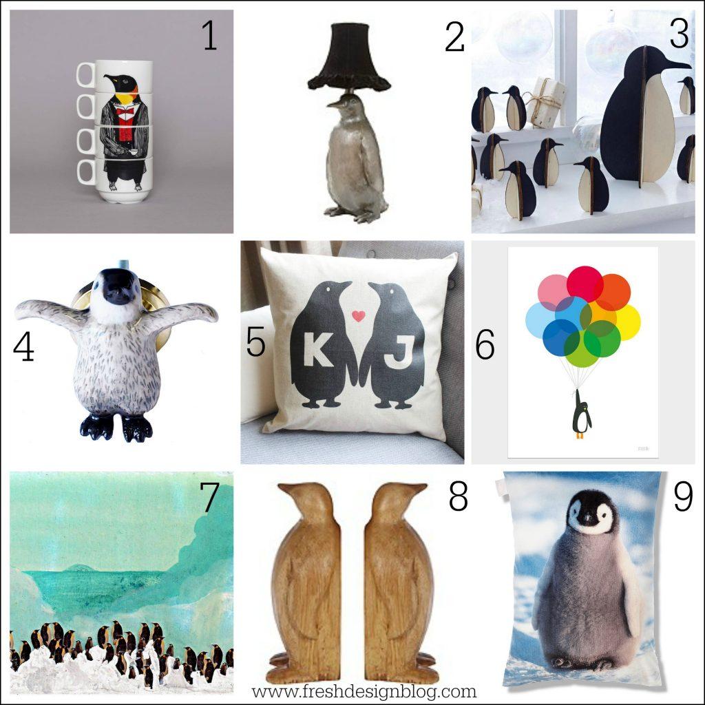 Fresh design penguin inspired homeware Christmas gift ideas