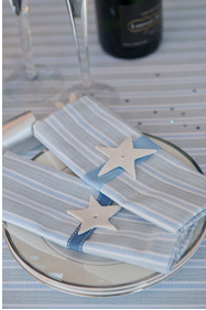 10 contemporary silver and blue Christmas dining accessories