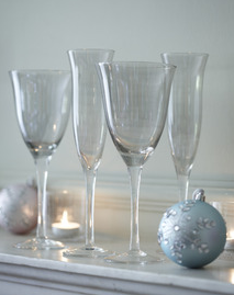 Wine glasses and flutes from Tesco
