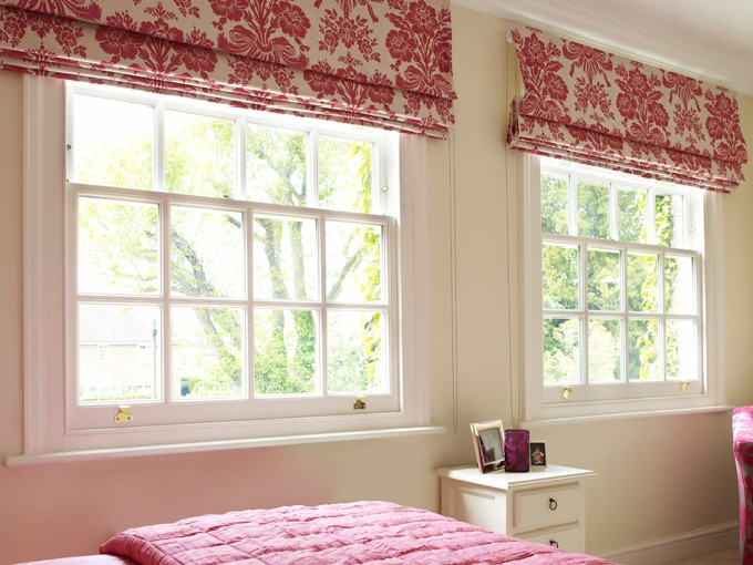 Use blinds to keep draughts out of sash windows