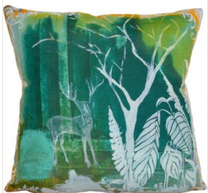 Woodland stag cushion, Blooming Briony