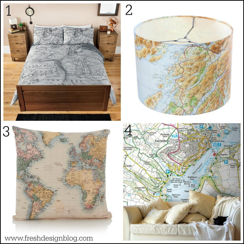 Get Your D Cor Mapped Out With These Map Themed Home Ideas Fresh Design Blog