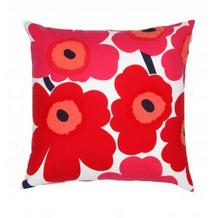 Marimekko red flower design cushion