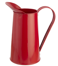 Red traditional design metal jug