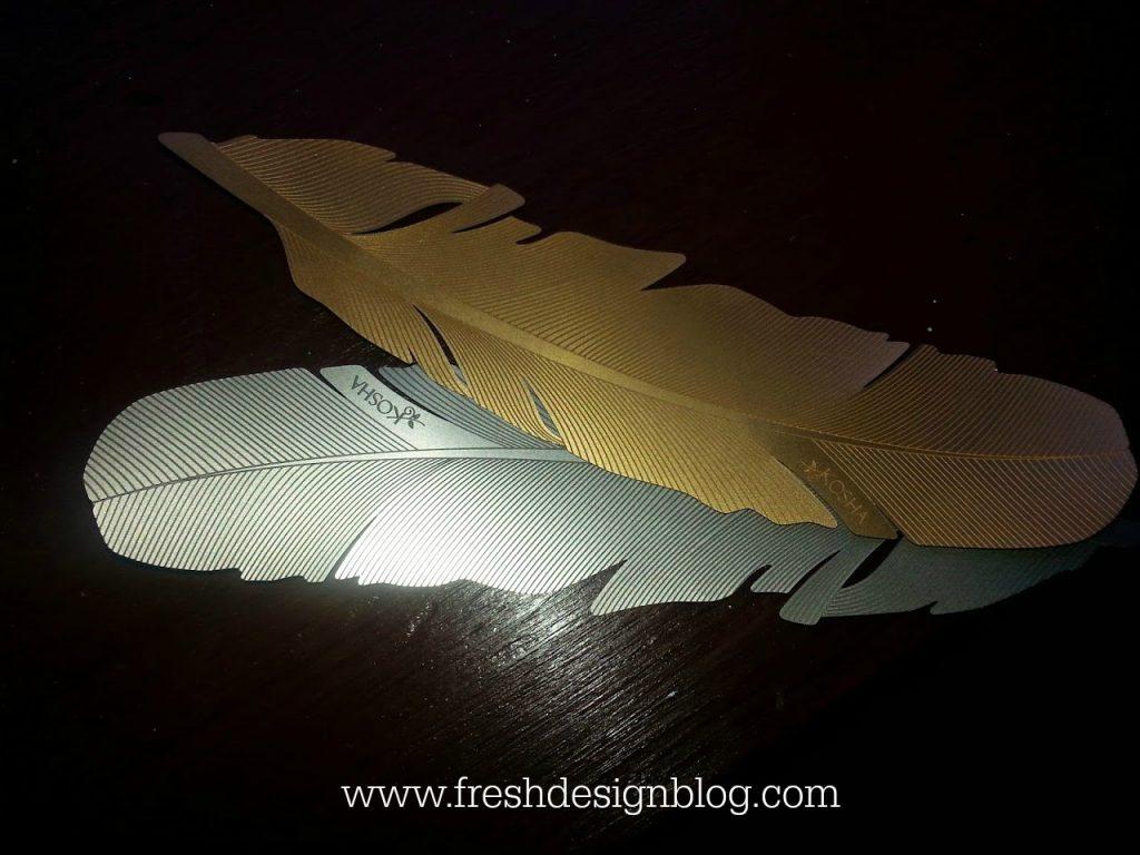 Gorgeous Kosha gold and silver feathers