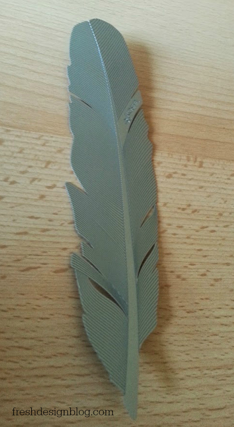 Kosha stainless steel feather reviewed by Fresh Design Blog