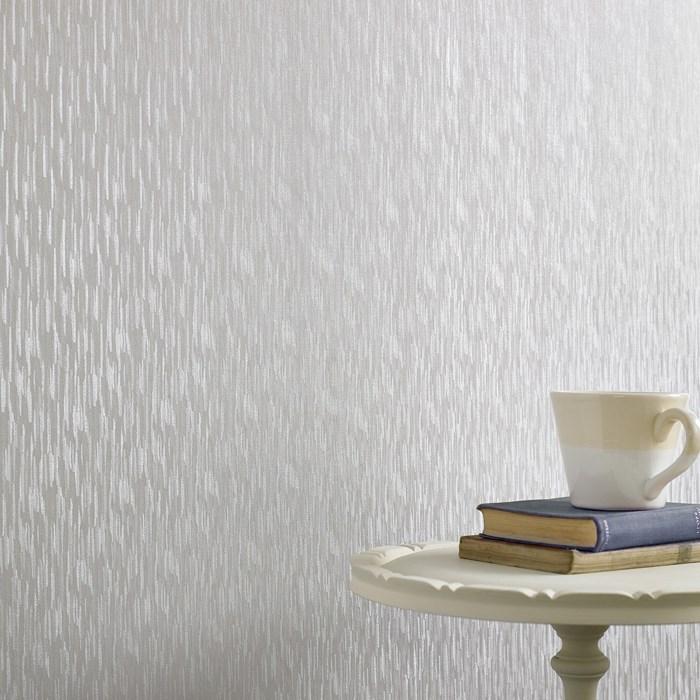 Bargain affordable metallic silver wallpaper