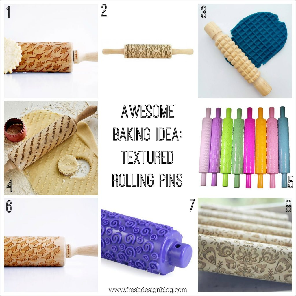 Awesome textured rolling pin design idea