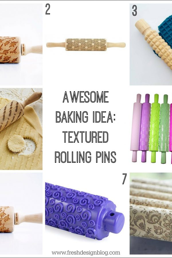 Add embossed designs to your baking with a textured rolling pin