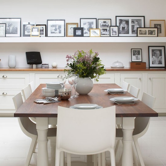 How to create a non-hanging gallery wall