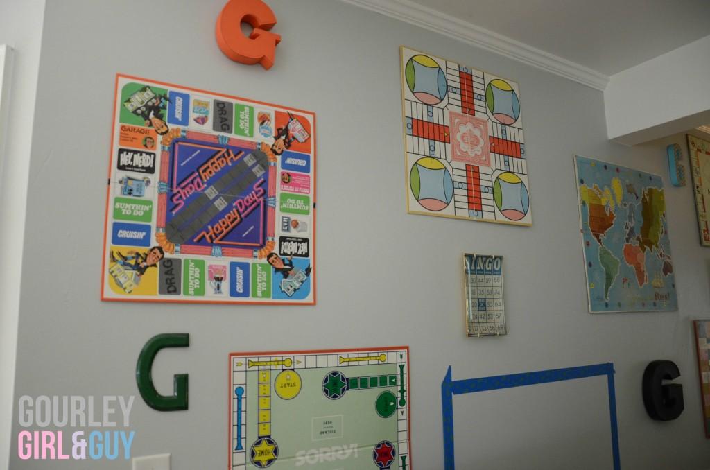 Hang board games as art