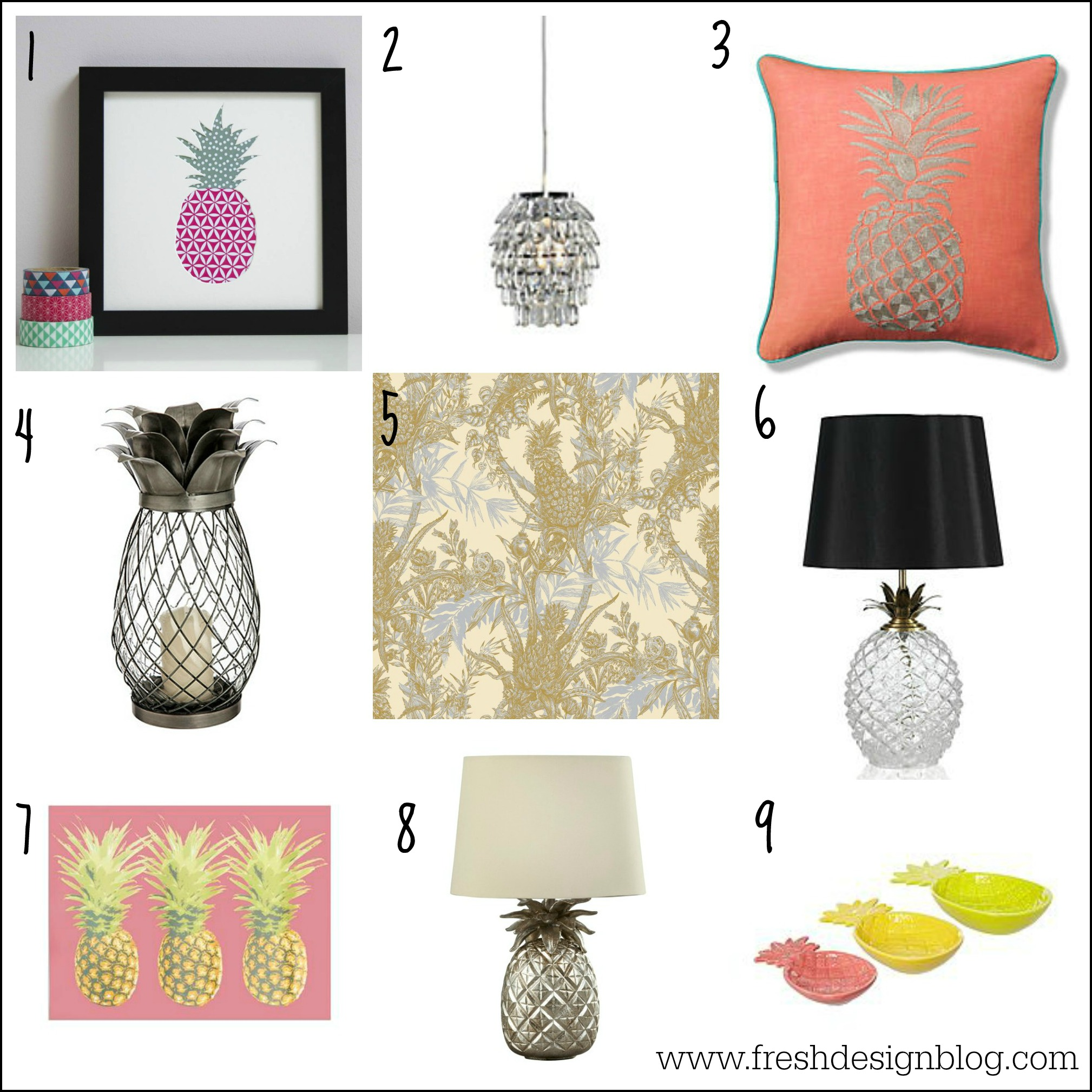 embrace the pineapple crush home trend
