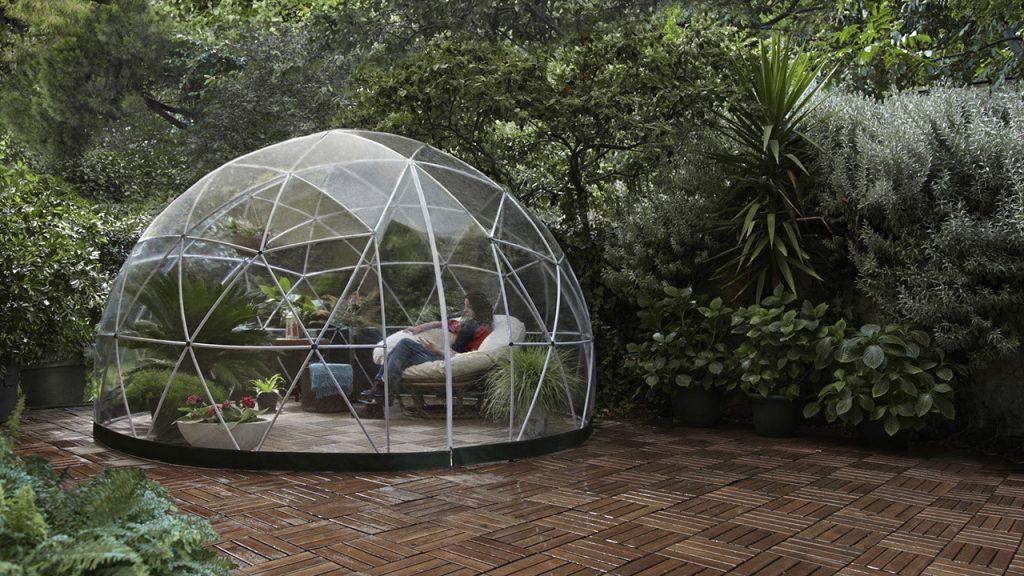 Contemporary garden igloo structure