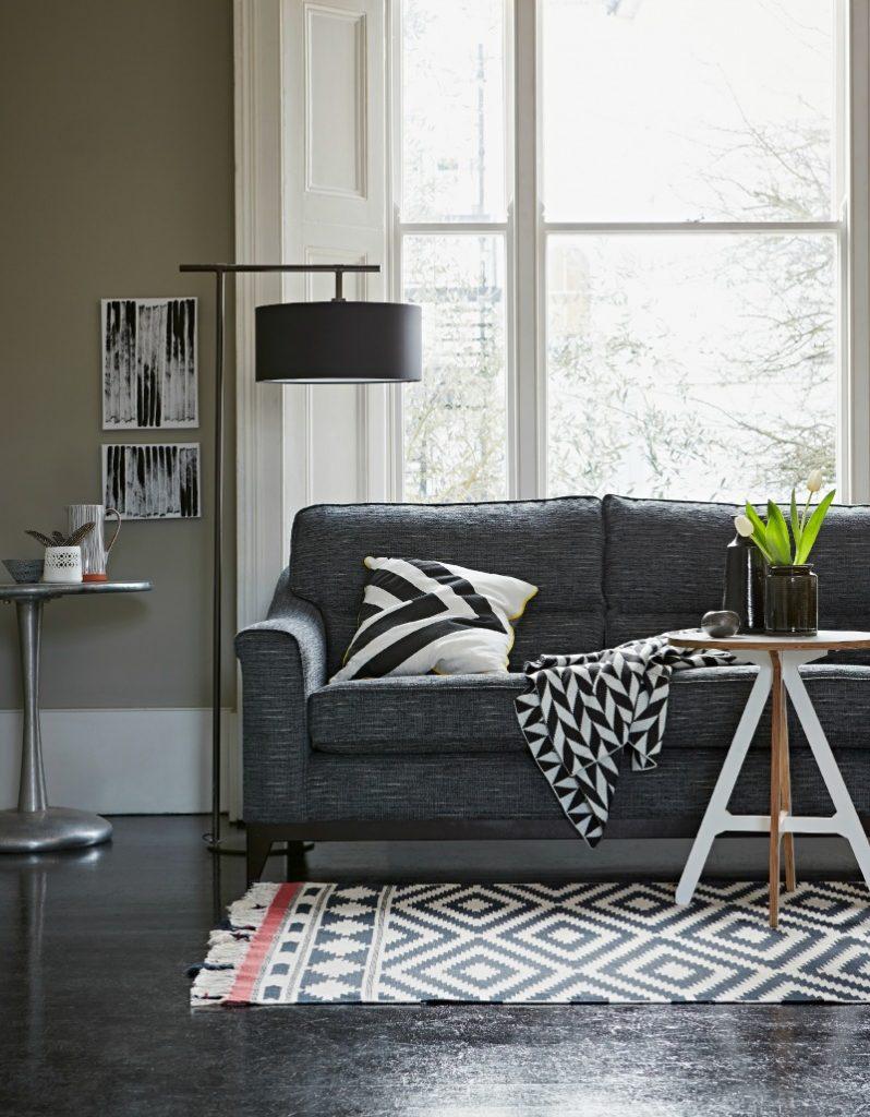 Mid century style Montana contemporary sofa