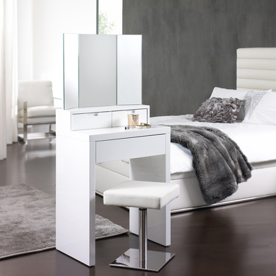 Compact marilyn dressing table for a small bedroom fresh design blog - Small space makeup vanity style ...