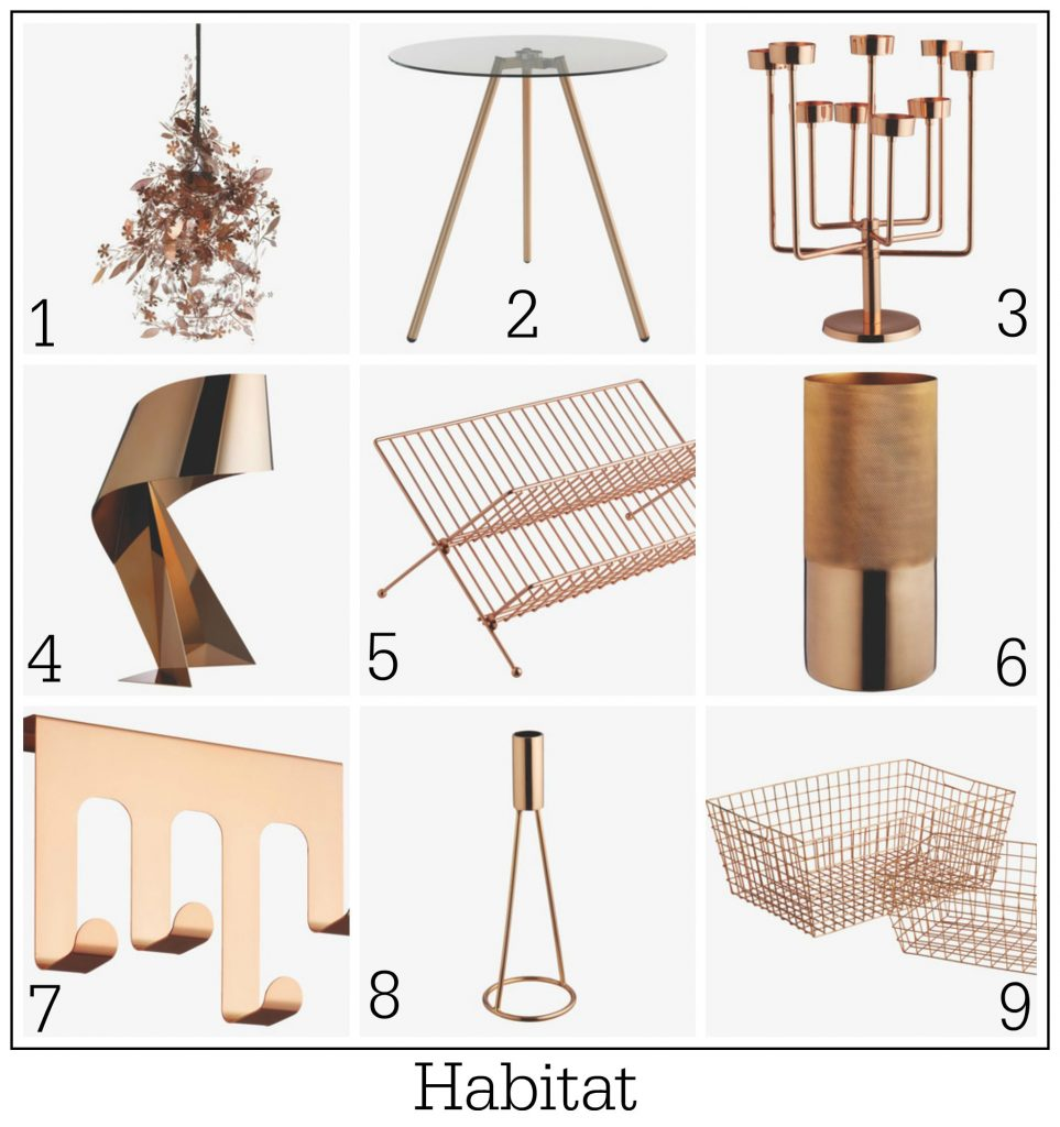 Contemporary design copper home products