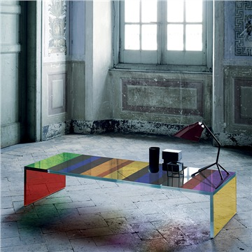 Funky multi colour contemporary design table