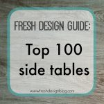 Table solutions: 100 top contemporary design side tables