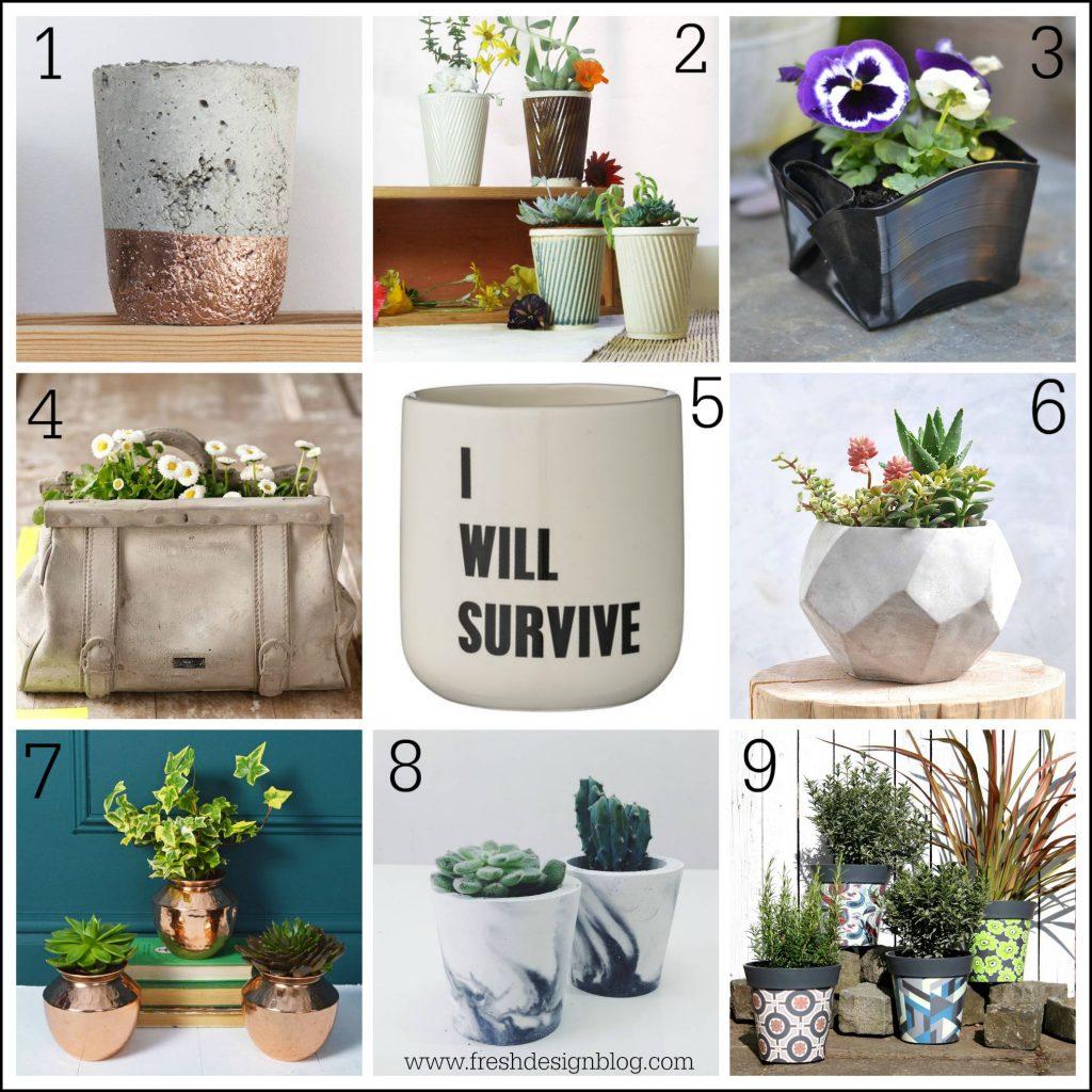 Contemporary design plant pots