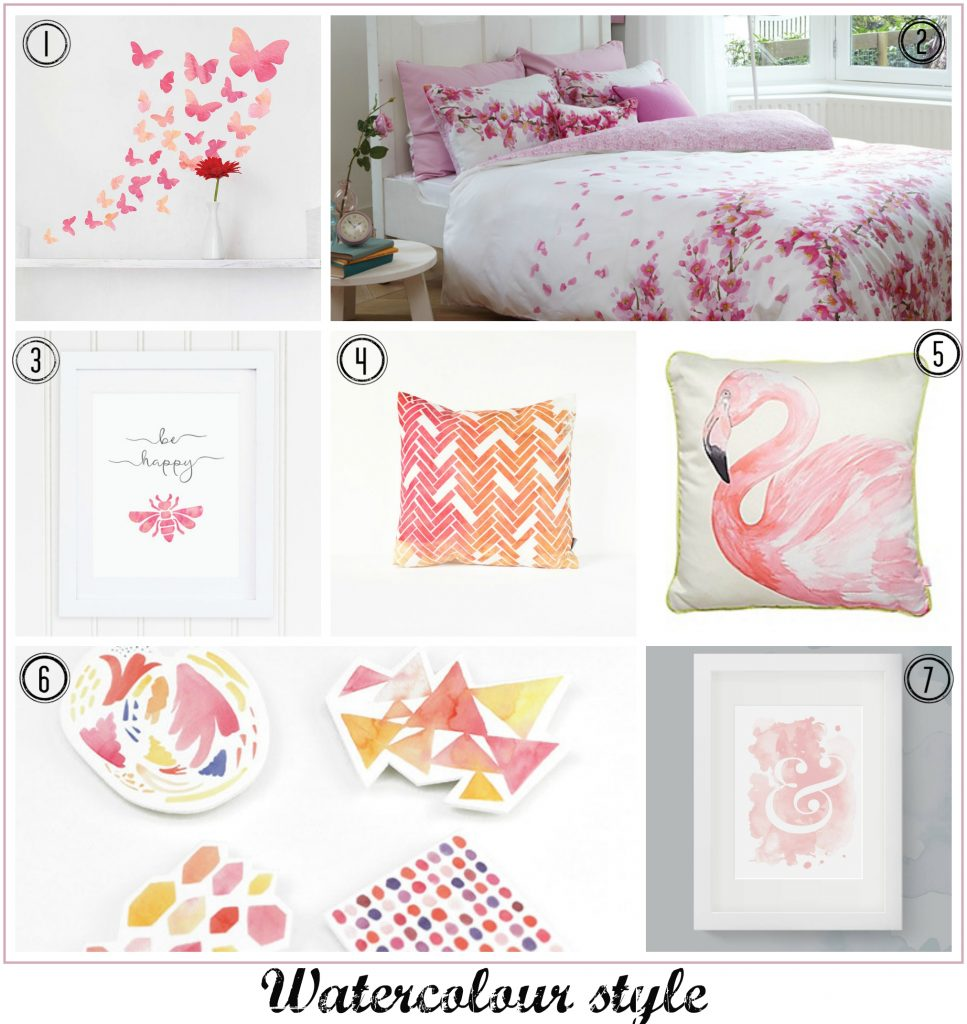 Fresh Design Blog top pink watercolour home ideas