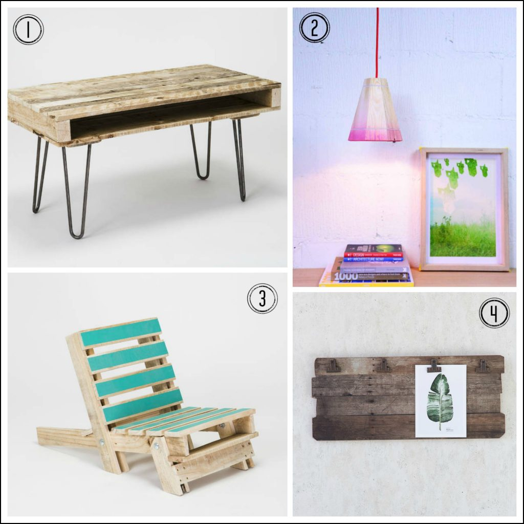 Recycled pallets made into new furniture