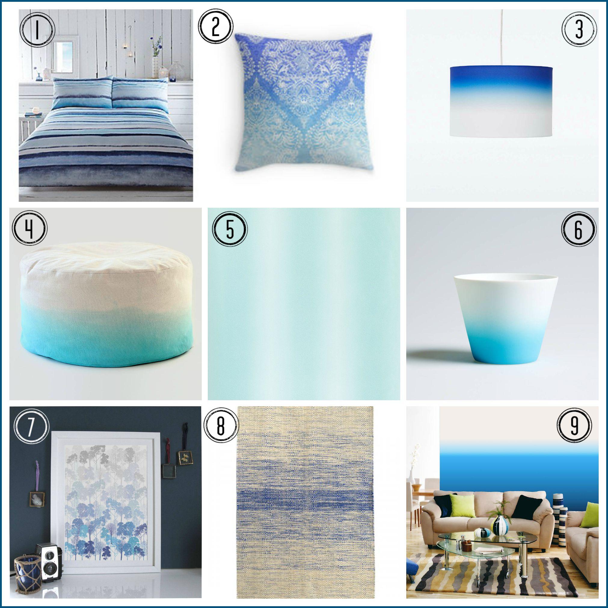 Ombre design home trend fresh blues fresh design blog for Fresh design blog