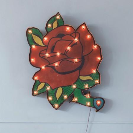 Traditional aphrodite rose tattoo design