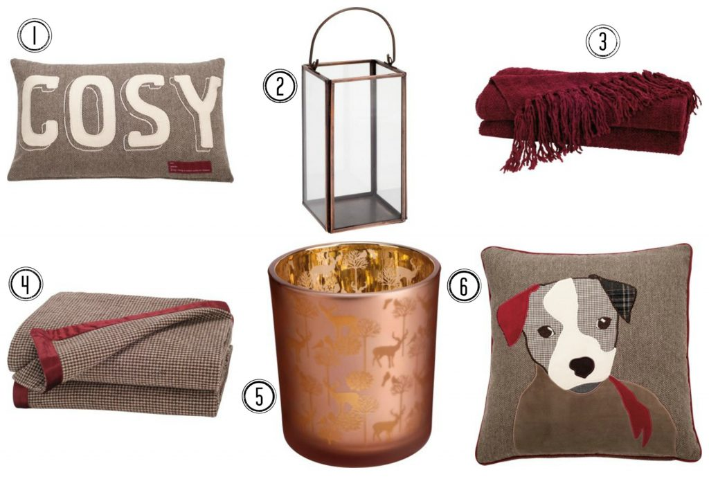 Cosy home accessories from Homebase